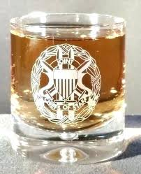 engraved scotch glasses personalized crystal single malt glass with the joint chiefs of staff logo shot