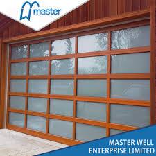 modern garage door commercial. Commercial Double Aluminum Glass Modern Garage Door R