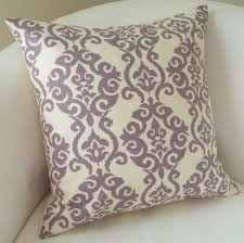 decorative throw pillow cover lilac purple pillow  or