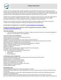 10 Brand Ambassador Resume Sample Riez Sample Resumes Riez