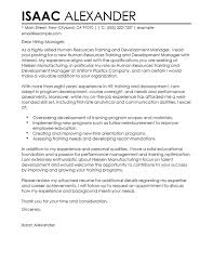 sample cover letter business best training and development cover letter examples livecareer
