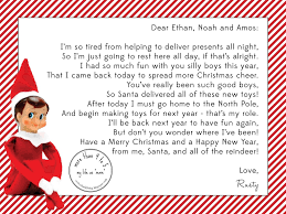 A Letter From Elf The Shelf