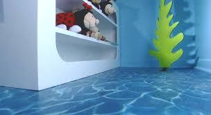 water effect flooring in a kids room