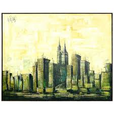 cityscape painting by lee reynolds for