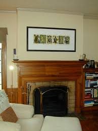 Art over Fireplace