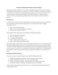 Resume Welders Resume
