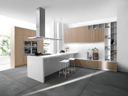 White Modern Kitchen White Modern Island With Cabinetry Also Granite Countertop Also