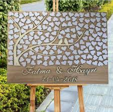 Us 47 39 21 Off 3d Wedding Guest Signing Book Alternatives Personalized 3d Wood Tree Wedding Guest Book Custom Rustic Loving Birds Guestbook In