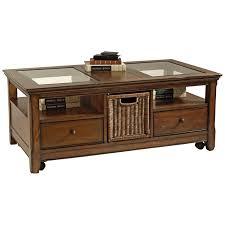 Coffee Tables With Basket Storage Under Table Storage Beige Velvet Sectional Living Room Sets