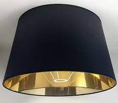Disponibles dans 25 coloris de 10 à 70cm de longueur. 50 Cm Abat Jour Tissu Noir Avec Doublure Doree Fait A La Main Pour Lampe De Table Lampadaire Amazon Fr Bricolage