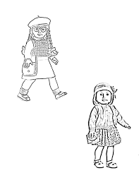 American Girl Coloring Pages Printable Free With Doll Printable