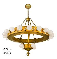 vintage hardware lighting large bare bulb antique 1920 s bank chandelier ant 454b