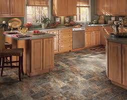 Rustic Floor Tiles Kitchen