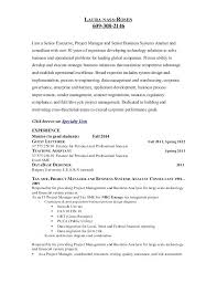 Business Resume Format Fascinating Systems Analyst Sample Resume Resume Examples Business Analyst Co