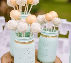 Dessert Cake Pops Mason Jars Spray Paint And Ribbontwine 2019