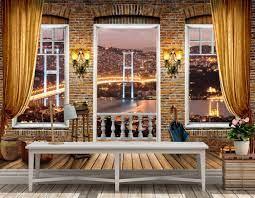 3D wallpaper design of istanbul bridge ...