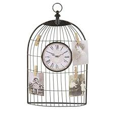 Birdcage Memo Board Stunning Birdcage Clock With Memento Pegs Bird Cage Style Clock Memo