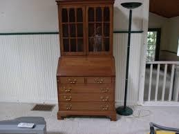 vintage secretary desk wooden