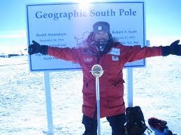Foto de Albert en la Antártida