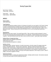 Example Of Nurses Notes In A Chart Free 18 Progress Note Examples Samples In Pdf Doc