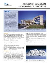 Astm Standards For Concrete Mix Design White Cement And Colored Concrete Construction Pages 1 4
