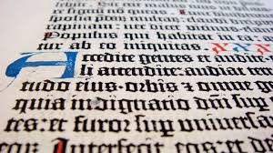celebrating our first year the gutenberg bible leaf lmu  gutenberg 01 angle 01