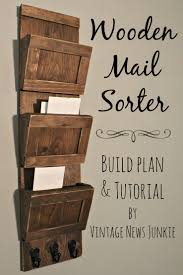 Wooden Mail Sorter - 40 Rustic Home Decor Ideas You Can Build Yourself--  Great office organizer idea.