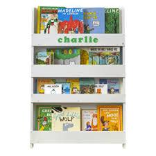 children s bookcase white personalised