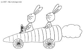 Coloriage Monsieur Lapin Et Madame Lapin Partent En Voiture Carotte