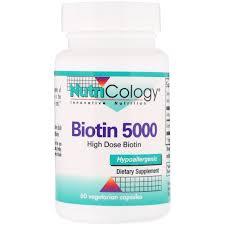 Nutricology, <b>Биотин 5000</b>, <b>60 вегетарианских</b> капсул, цена 572 ...