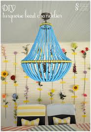 Diy Bead Chandelier Diy Tutorial Turquoise Bead Chandelier A Storied Style