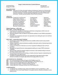 Aircraft Mechanic Resume Examples Avionics Technician Resume Engineering Technician Resume