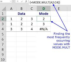 The Excel MODE.MULT Function