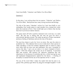 carol ann duffy valentine and before you were mine gcse document image preview
