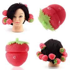 <b>12pcs</b> Foam Strawberry Balls <b>Soft</b> Sponge <b>Hair</b> Curlers Rollers Bun ...