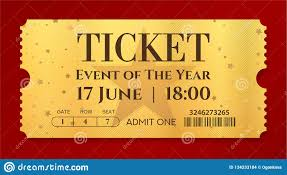 Show Ticket Template Admission Golden Ticket Template Vector Mockup Movie Ticket Tear