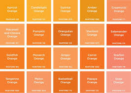 Shades Of Orange Color Chart Orange Is The Happiest Colour In 2019 Pantone Orange