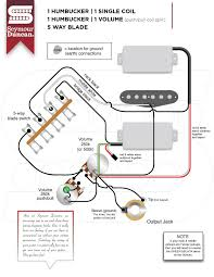 wiring diagram for 1 volume hsh 3 way mini toggle switch the instead of the five way switch use a dpdt on on on switch and wire it like this out to in lug on vol pot