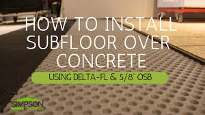 how to install a suloor on concrete