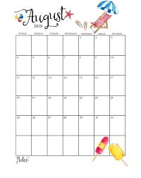 August Theme Calendar Cute August 2019 Calendar August August2019