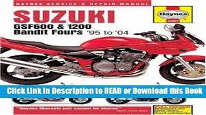 books yamaha grizzly 660 2002 2007 clymer motorcycle repair book suzuki gsf600 and 1200 bandit fours service and repair manual 95 to 04 haynes manuals
