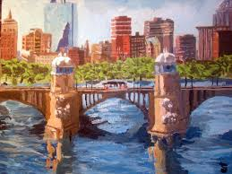 landscape painting longfellow bridge boston ma by xaviermert deviantart com on deviantart