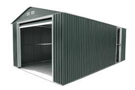 duramax 12x20 metal garage with roll up door gray
