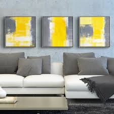 yellow and grey modern minimalist abstract painting decorative canvas paintings living room sofa backdrop wall art picture on gray wall art for living room with online shop yellow and grey modern minimalist abstract painting