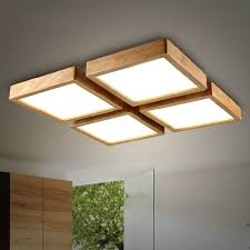 office ceiling lamps. New Creative OAK Modern Led Ceiling Lights For Living Room Bedroom Lampara Techo Wooden Office Lamps R