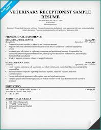 Receptionist Resume Objective Interesting Vet Tech Resume Samples And Veterinary Receptionist Resume Example