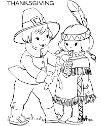 Small Picture Thanksgiving Day Coloring Page Sheets Pilgrim boy with a turkey