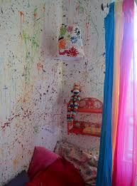 Paint Room Bedroom Splatter Walls In My Daughters Room Painted The Walls White Then