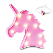 Starteco Unicorn Led Light Party Supplies Kids Llama Light Battery Operated Led Night Light Wall Living Room Bedroom Home Christmas Party As Kids