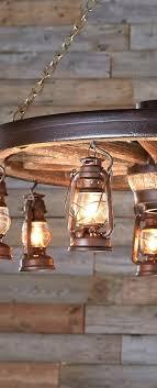 rustic wagon wheel lantern lighting sr